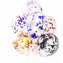 5pcs/Globo de confeti plateado 12 pulgadas Globo látex blanco rosa romántico plata fiesta cumpleañ