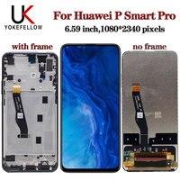 6.59 Inch Display Voor Huawei P Smart Pro 2019 1080*2340 Lcd Touch Screen Digitizer Vergadering Reparatie Lcd voor P Smart Pro|LCD's voor mobiele telefoons|   -