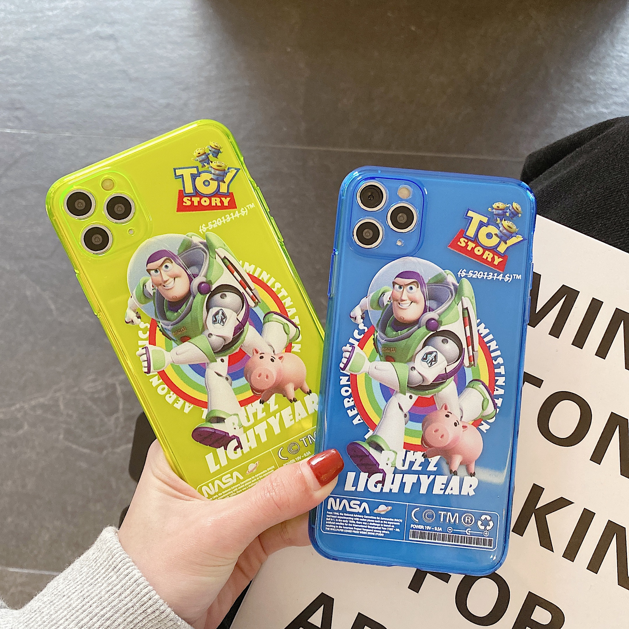 <font><b>Toy</b></font> <font><b>story</b></font> Buzz Lightyear phone case fluorescent for <font><b>iphone</b></font> 11 Pro Max 7 8 Plus case cartoon for <font><b>iphone</b></font> XR <font><b>XS</b></font> MAX 11 cover <font><b>fundas</b></font> image