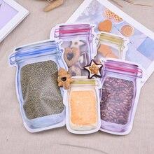 5 шт многоразовые пластиковые мешки на молнии с застежкой молнией