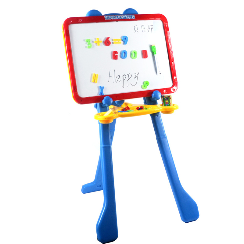 Children Baby Drawing Board Double-Sided Magnetic Small Blackboard Adjustable Easel Braced Household Drawing Graffiti Writing Bo