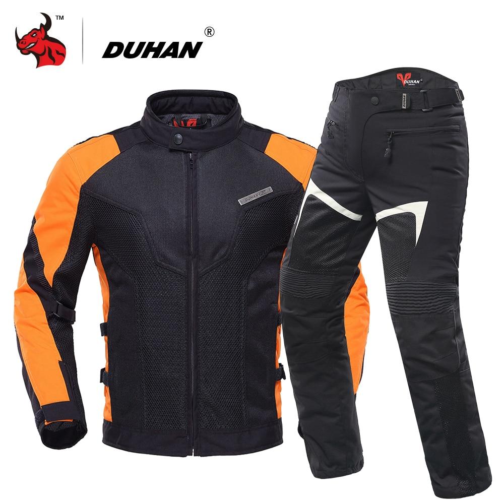 DUHAN Motorcycle Jacket Summer Breathable Mesh Moto Jacket Motocross Clothing Motorbike Jaqueta Motoqueiro With Five Protector