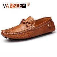 Brand Men's Casual Shoes Men Loafers Men Genuine Leather Shoes Luxury Brand Men Shoes Designer Flats Men Boat Shoes