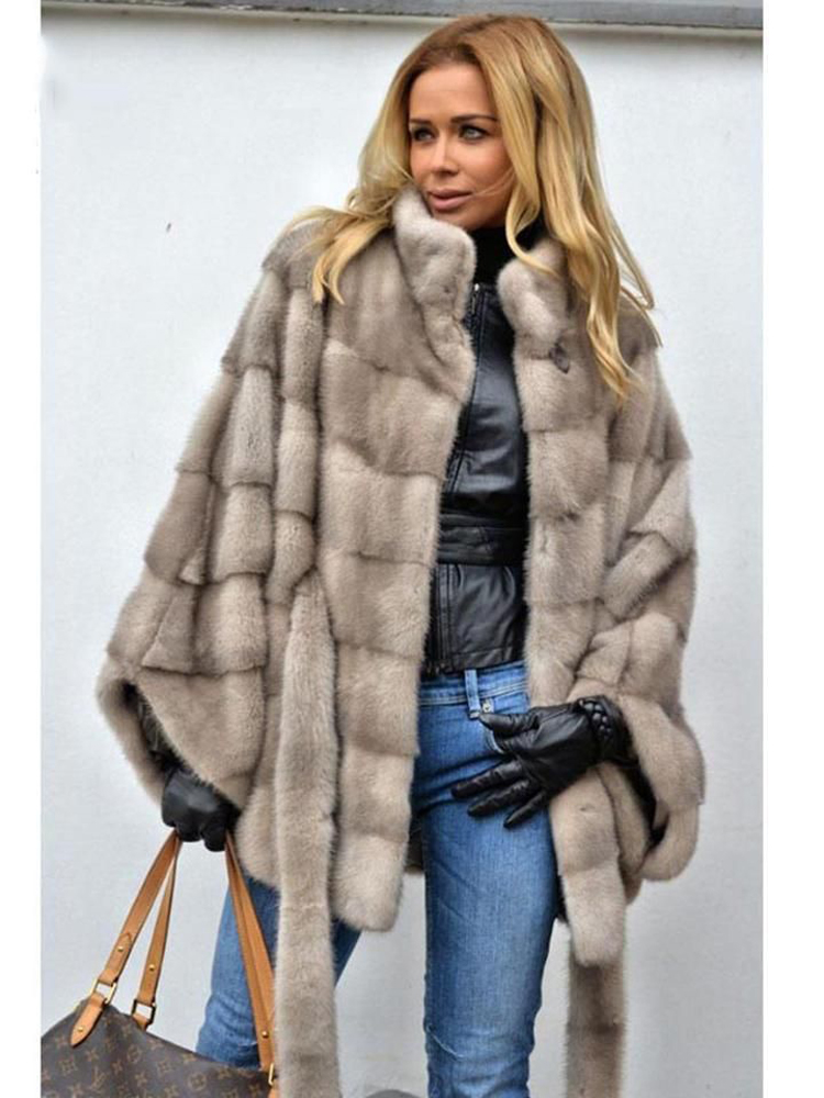Winter Fluffy Faux Coats Fur Bat Sleeved Overcoat Covered Button Full Outerwears