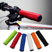 High elasticity silicone 2PCs Bike Racing Bicycle Motorcycle Handle Bar Foam Sponge Grip Cover Soft Non-slip shockproof accessor