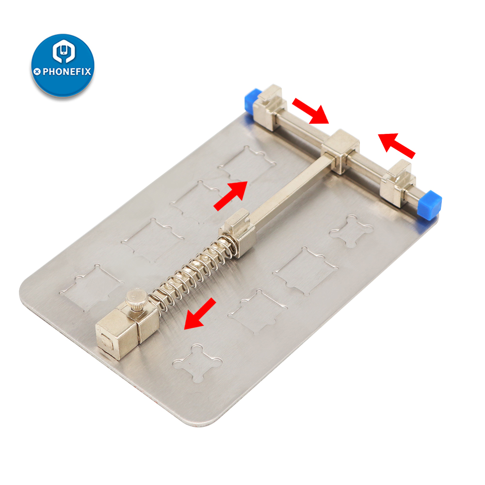 Universal Metal PCB Board Holder For Mobile Phone PCB Repair Jig Fixture Work Station For IPhone Samsung Motherboard PCB Holder