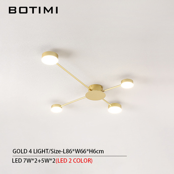 BOTIMI Novelty Metal Irregular Ceiling Lights For Foyer Black Ceiling Lamp Golden Surface Mounted Bedroom Lighting Fixture 11