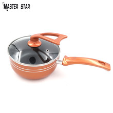 Master Star Copper 1L Milk Pot For Body Food Cooking Saucepan Healthy Fast Heat Soup Pan(China)