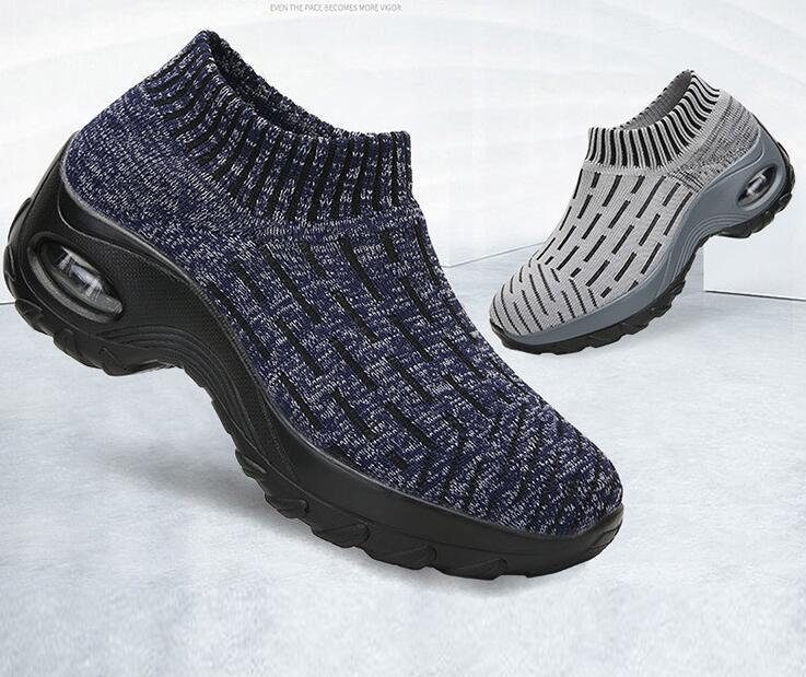 Zapatillas de otoño calcetines Zapatos de madre zapatos de punto de gran tamaño de las mujeres de fondo grueso de moda calcetines Zapatos de diseñador casual - 6