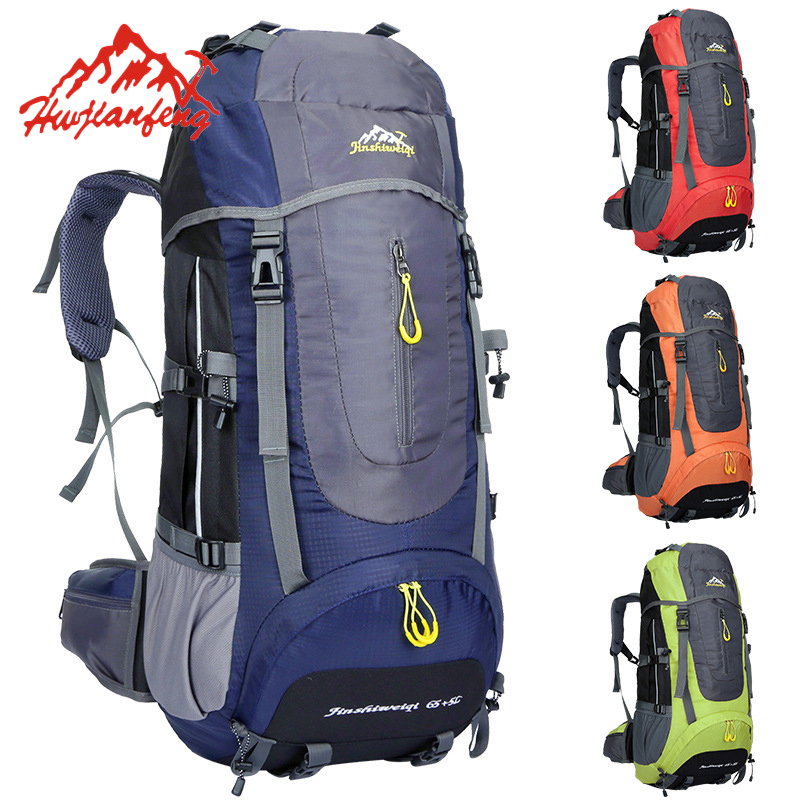 Professional 70L Large Mountaineering Backpack Waterproof Nylon Outdoor Travel Bags Camping Hiking Climbing Bagpack HAB022