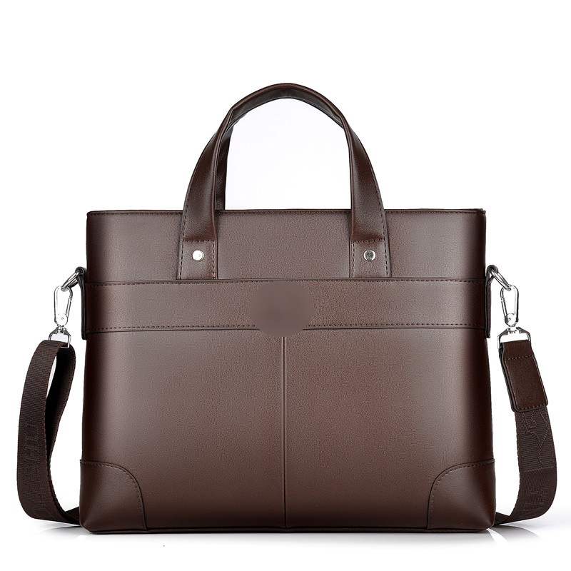 2019 New Fashion Pu Men's Shoulder  Korean Soft Leather Portable Briefcase Leisure Laptop Bag Leather Man Bag