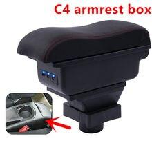 Caja reposabrazos para Citroen C4 compartimento de almacenamiento central, decoración interior, consola central