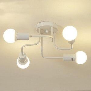 Image 3 - Modern LED Ceiling Chandelier Lighting Nordic Chandeliers Ceiling E27 Retro Industrial Loft Light Fixture For Living Room lustre
