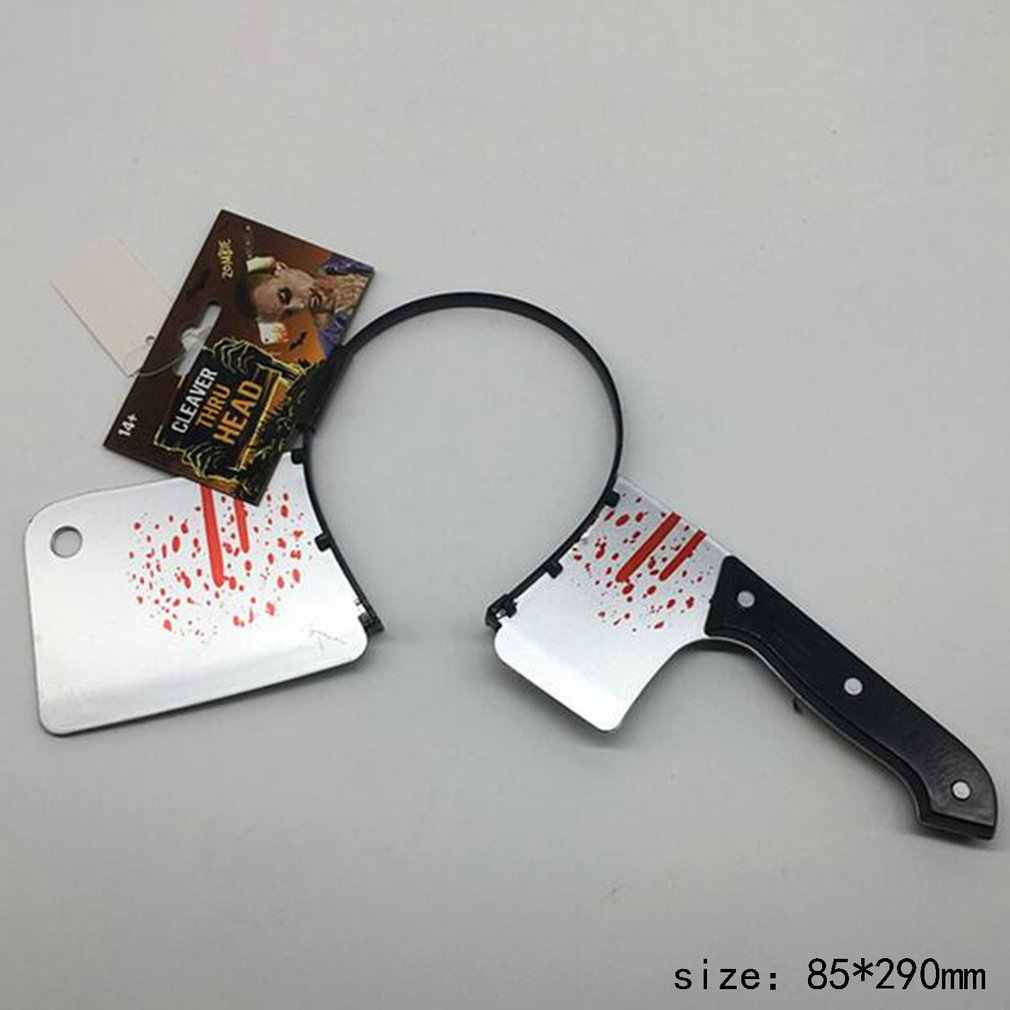 סרט ליל כל הקדושים קוספליי אבזרי שיער אביזרי מטבח סכין מסודר סימולציה פלסטיק ראש סכיני מספריים חידוש מצחיק צעצוע