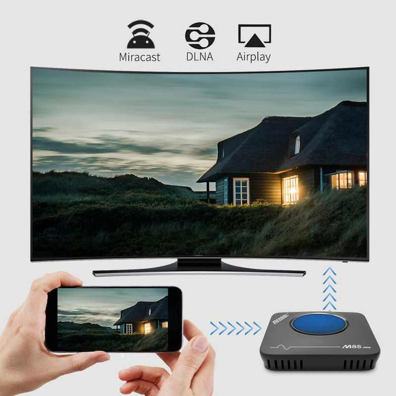 Mecool M8S Max Smart TV Box Android7.1 Amlogic S912 3GB + 32GB 2.4G 5.8G Dual Wi Fi BT4.0 Set Top Box 4K VP9 H.265 TV Box