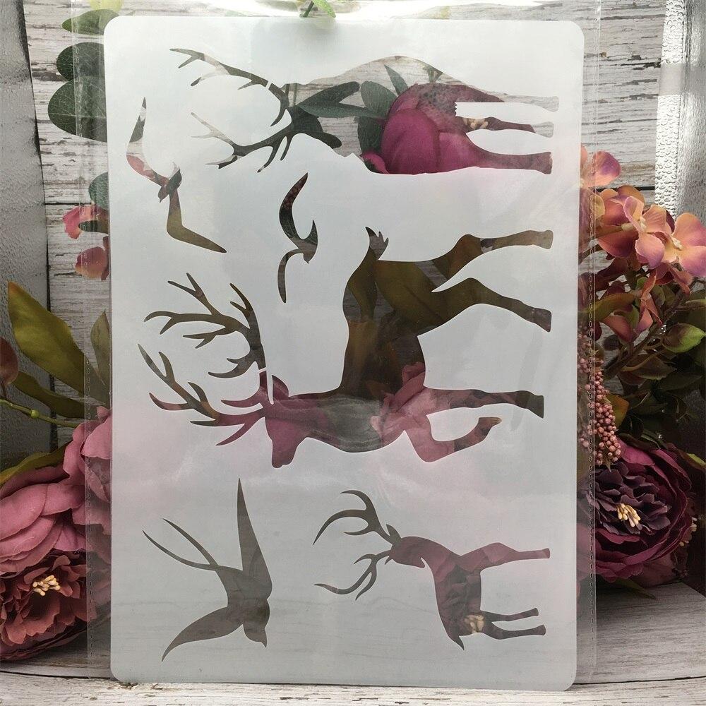 A4 29*21cm Deer Swallow Bird DIY Layering Stencils Painting Scrapbook Coloring Embossing Album Decorative Template