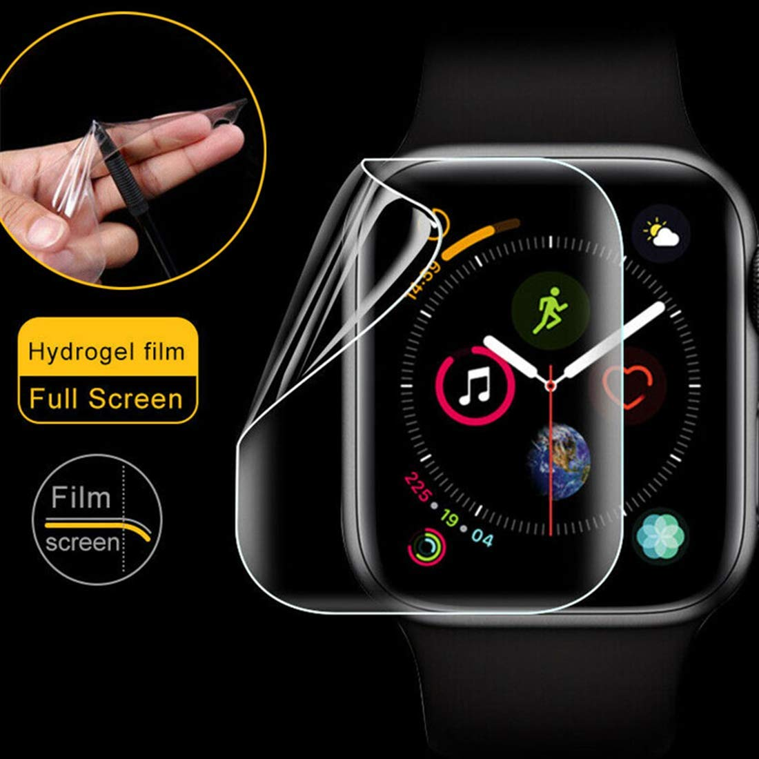 Soft Screen Protector For Apple Watch 5 4 44mm 40mm Iwatch 3 42mm/38mm Soft Cover 9D Protective Full Coverage