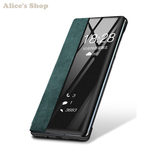 Image 4 - Luxury Original Durable Genuine Leather Case For Huawei P30/ Pro Fashion Display View Smart Flip Case Cover For Huawei P30 Pro
