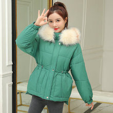 Woman Winter Parkas Fur Hooded Puffer Basic Coat Warm Thick Thermal Hood Puff Outerwear Women Short Quilted Jackets Pure Colour 2016 women stand up collar deep colour running basic jackets sports outerwear