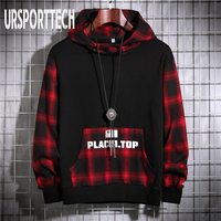Spring Autumn Men Hoodies Sweatshirts Men Fleece Streetwear Pullover Hoodie Men/Women Casual Plaid Hooded Sweatshirt Hip Hop 4XL