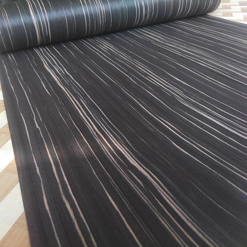 Technical Veneer Sliced Wood Engineering Veneer E.V. Black Ebony Straight Grain Striped Q/C