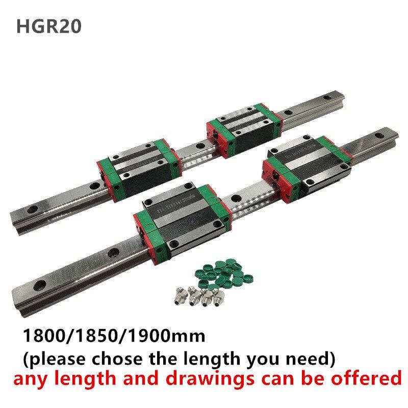CNC Set 20 1800mm 2x Linearführung Schiene 4x quadratisch wagen lager block-in Linearführungen aus Heimwerkerbedarf bei AliExpress - 11.11_Doppel-11Tag der Singles 1