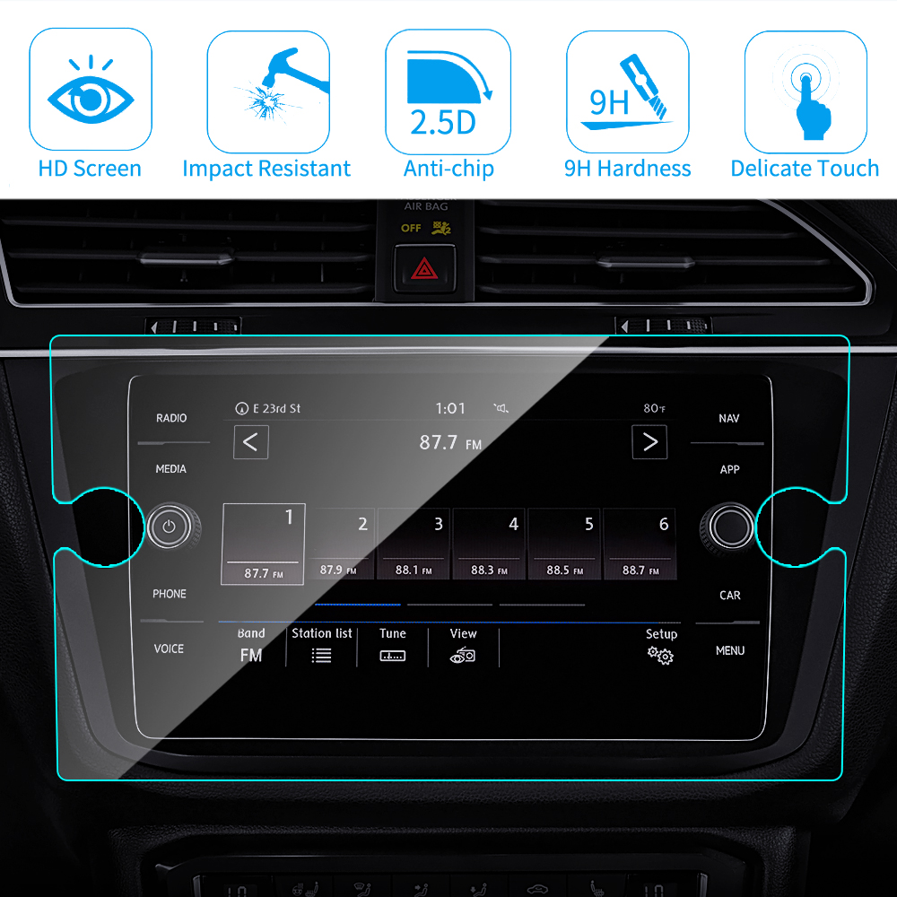 Car GPS Navigation Screen Protector for Volkswagen Tiguan Atlas Jetta Golf 2019 2018 ,for <font><b>VW</b></font> Golf R GTI Alltrack <font><b>SportWagen</b></font> image