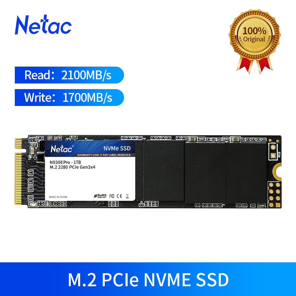 Netac M.2 <font><b>SSD</b></font> <font><b>M2</b></font> 1TB <font><b>500GB</b></font> 250GB PCIe <font><b>NVME</b></font> Solid State Drive <font><b>SSD</b></font> M.2 2280 Internal Hard Disk HDD For Laptop Desktop Netbook image