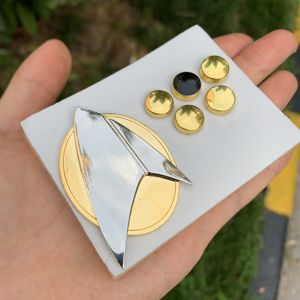 6 шт./компл. Star Picard Combadge Rank Pips брошь Trek Command Science Engineering Pin значок аксессуары вечерние аксессуары для Хэллоуина