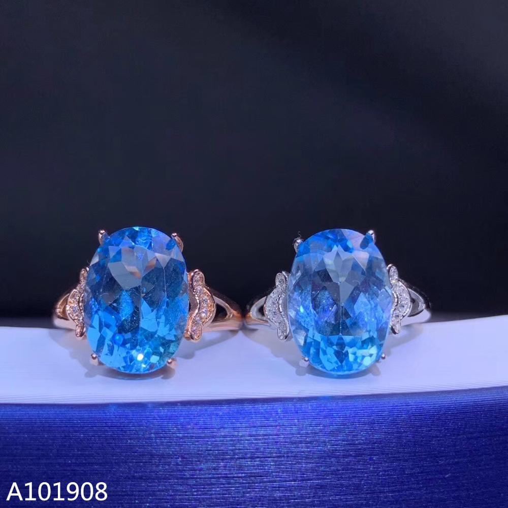 Jewelry Topaz-Ring Natural 925-Sterling-Silver Inlaid KJJEAXCMY Models Support-Detection