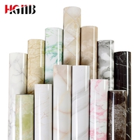 Marble Renovation Waterproof adhesive Stickers PVC Wallpaper 3D Wall paper Wall Stick Ambry Mesa Table Furniture