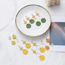 Korean Simple Round Drop Dangle Earrings for Women Female Gold Color Metal Long Tassel Statement Earrings 2020 Fashion Jewelry kobra 245 ts hs e s 0 8x9 5 мм
