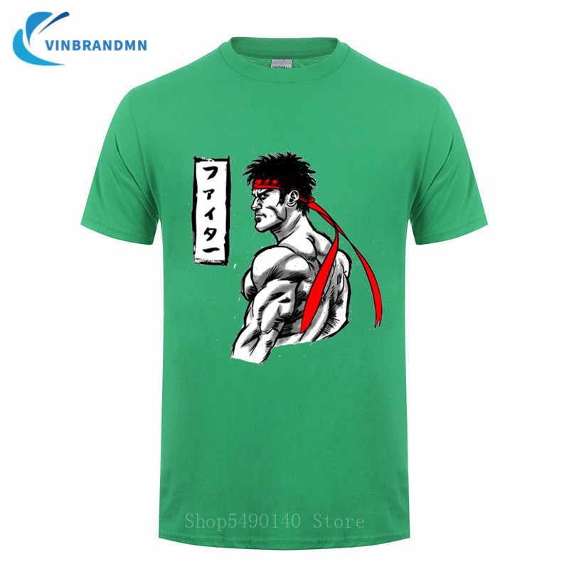 Odzież uliczna Fighter Tshirt boks gier wideo t-shirt wojskowy walka muay thai Manga T Shirt Karate Kid fajne męskie Tee Shirt Camsietas