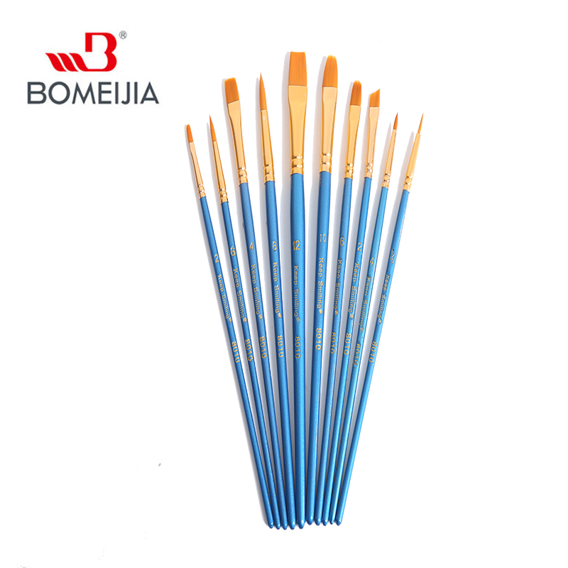 Sky Blue Paint Brushes Set 10Pcs Multifunctional Nylon Hair Brush for Art Painting Supplies Watercolor Oil Crafts Rock /& Face Painting