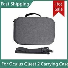 Novo protable para oculus quest 2 vr saco duro eva caso de viagem protetora fone ouvido capa saco armazenamento para quest2 vr acessórios