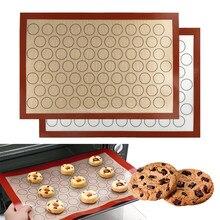 Alfombrilla antiadherente perforada de silicona para hornear, revestimiento de hoja para horno, para galletas, pan, galletas, horno doméstico para cocina, herramienta, bandeja, estera