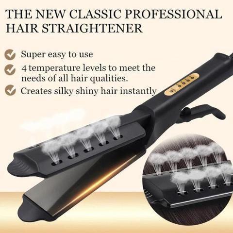 alisador de cabelo quatro engrenagem ajuste de temperatura ceramica turmalina ionic flat iron curling ferro