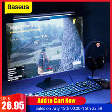 Baseus Stufenlose Dimmen Auge-Pflege LED Schreibtisch Lampe Für Computer PC Monitor Bildschirm bar Hängen Licht LED Lesen USB powered Lampe(China)
