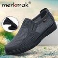 Merkmak удобная мужская повседневная обувь  дышащая сетка  летняя мужская обувь 2020  новые нескользящие легкие кроссовки для мужчин  большой раз...