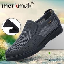 Merkmak Comfortable Men Casual Shoes Breathable Mesh Summer Men Shoes 2020 New Non slip Lightweight Sneakers for Men Big Size 48