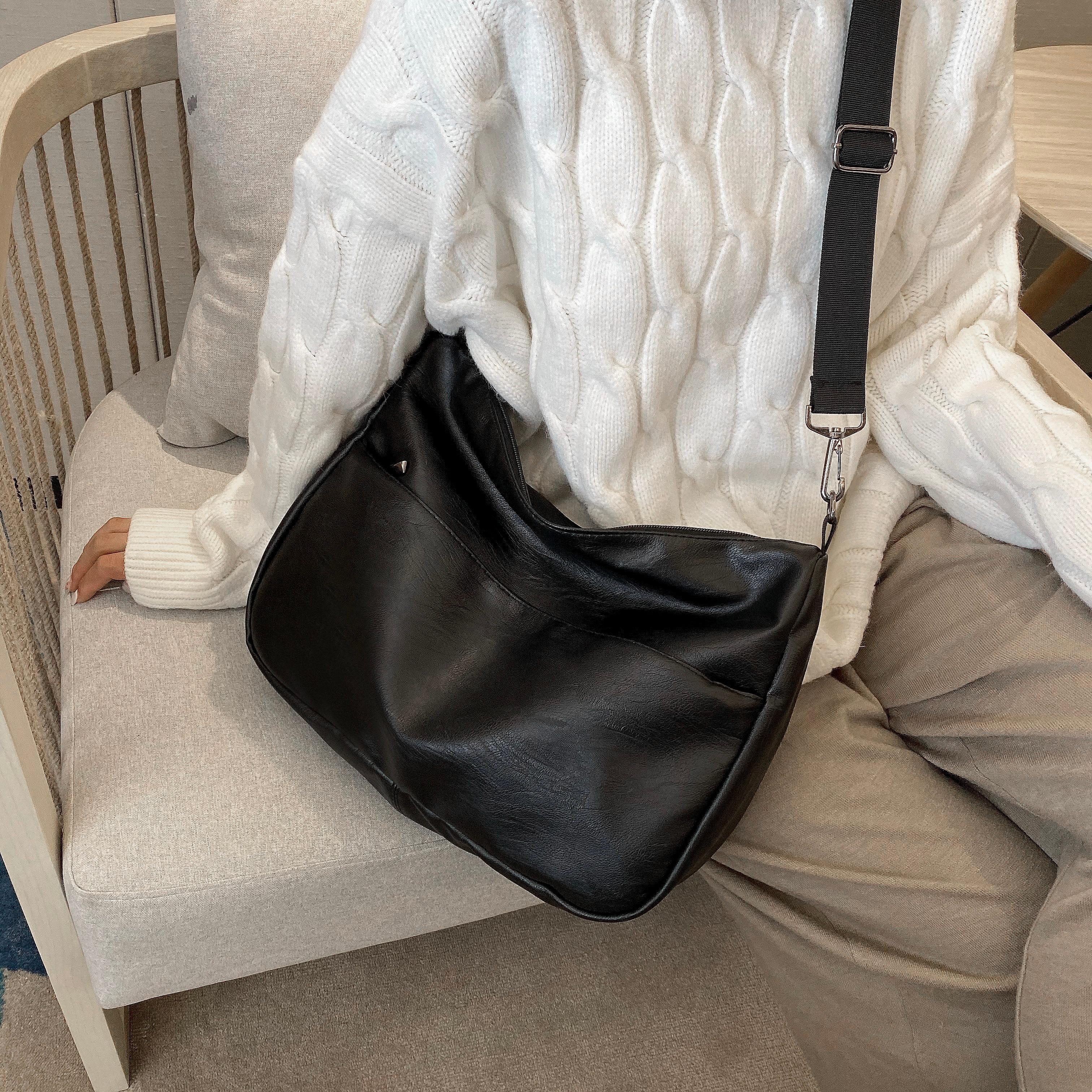 Soft PU Leather Crossbody Bags For Women 2019 High Capacity Shoulder Messenger Bag Female Travel Black Handbags
