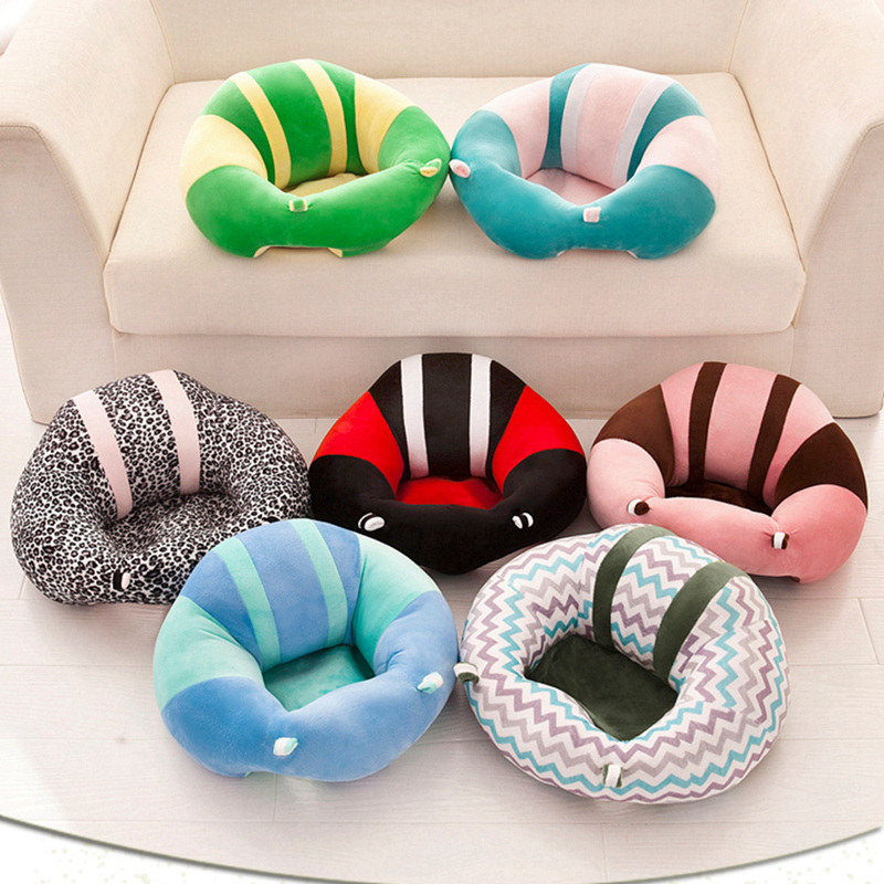 Newborn Baby Sofa Cute Comfortable Cotton Baby Seat Sofa 5 Kinds Colors Support Safety Soft Learning To Sit Feeding Chair