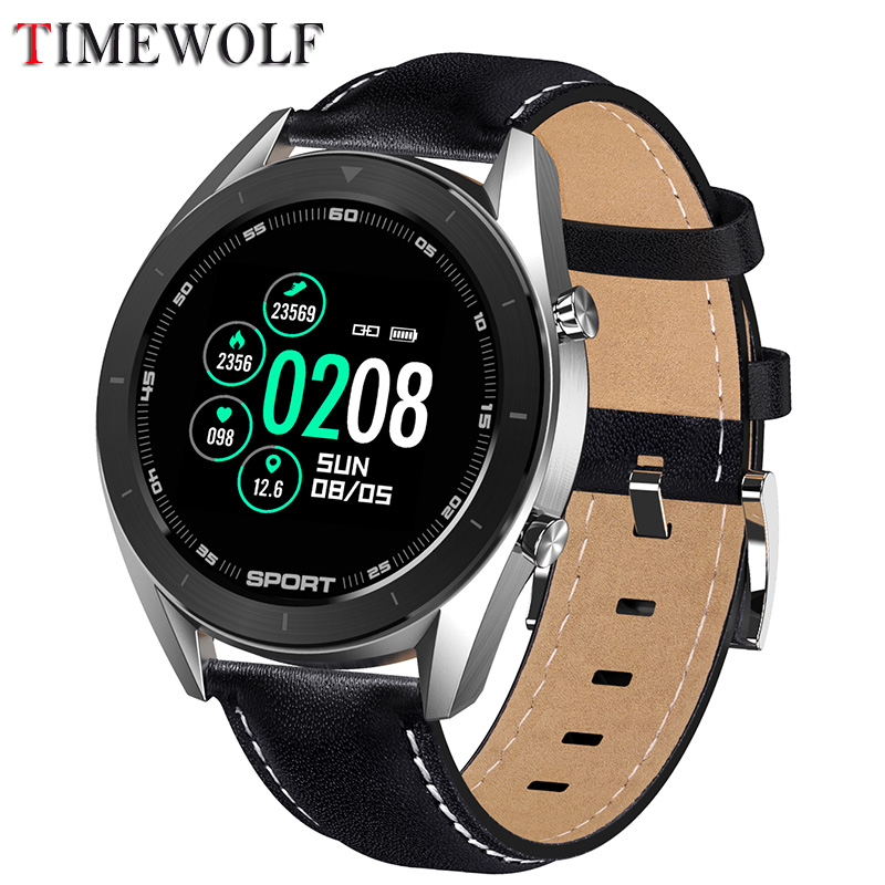 Timewolf Blood Pressure Smart Watch ECG Monitor Men Full Roud Smartwatch Android Waterproof Smart Watch Men For for IOS Phone