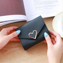 PU Leather Women Wallet Card Holder Girls Casual Leather Pur