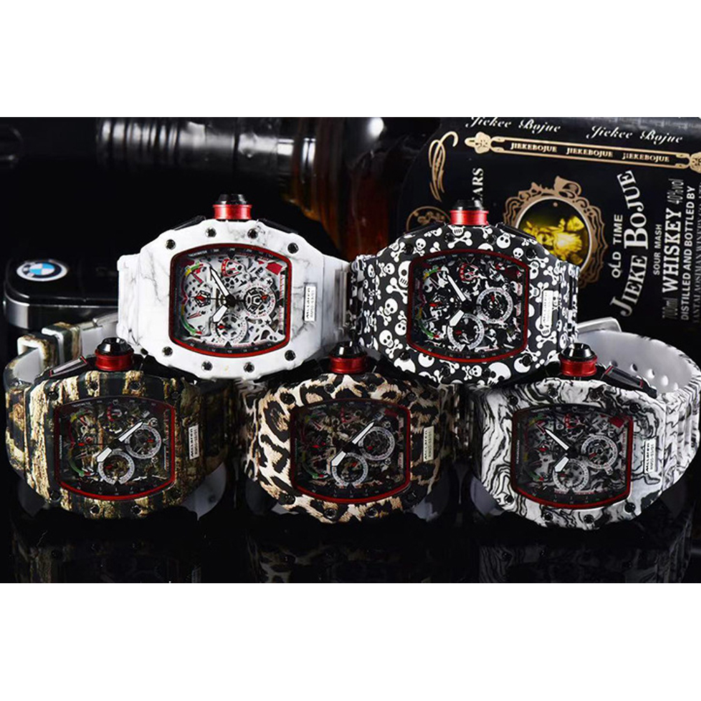 Marca superior de luxo relógio quartzo caixa