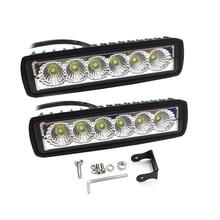 1PC 2PCS 6 אינץ Led בר אור Offroad מבול ספוט עבודת אור 18W Led עבודה אורות רכב אביזרי למשאית טרקטורונים 4x4 SUV 12V 24V