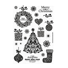 Christmas Tree Transparent Clear Silicone Stamps Seal DIY scrapbooking photo album Decorative Happy New Year clear stamps sheet