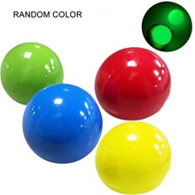 6PCs Squeeze Toys Luminous Sticky Wall Balls Stress Reliever Toy Decompression +4 Color +Adult Kids Gift Decompression Toy BallСветовой Липкий Стена Шары Стресс Реле Игрушка Декомпрессия +4 Цвет +Взр
