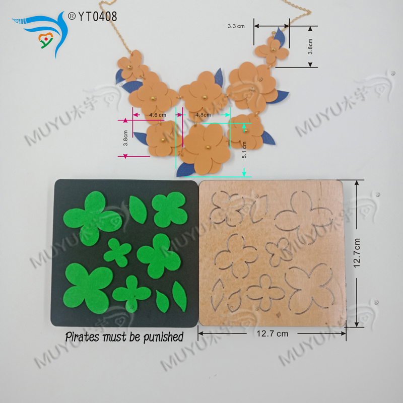 Fancy Necklace-YT0408  DIY New Wooden Mould Cutting Dies For Scrapbooking Thickness/15.8mm