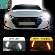 Reflektory samochodowe 1 para dla Hyundai Elantra 2016 2017 2018 LED samochodowe światło do jazdy dziennej DRL Daylight wodoodporna lampka sygnalizacyjna